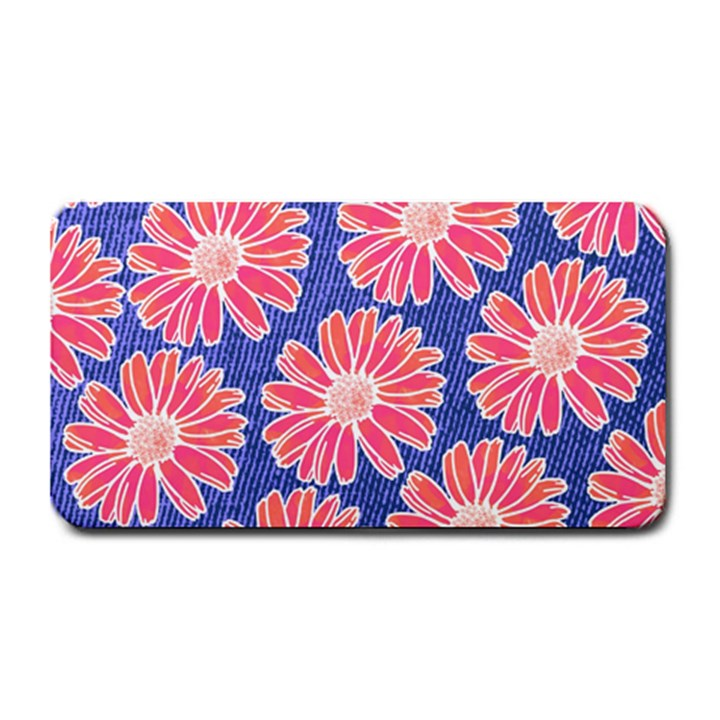 Pink Daisy Pattern Medium Bar Mats