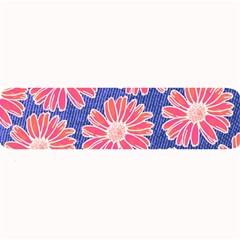 Pink Daisy Pattern Large Bar Mats