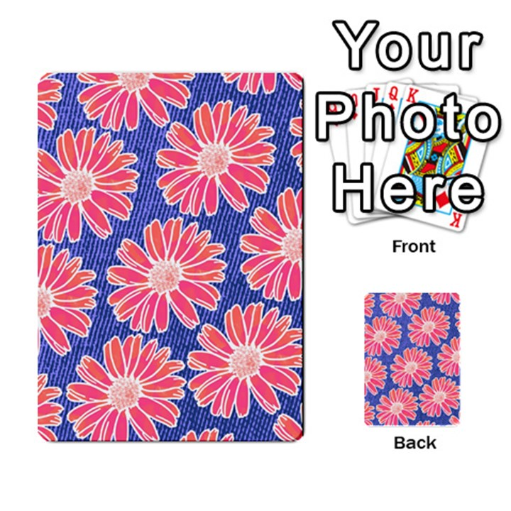 Pink Daisy Pattern Multi-purpose Cards (Rectangle)