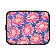 Pink Daisy Pattern Netbook Case (Small)