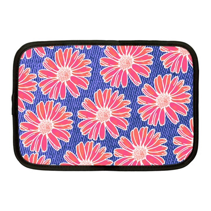 Pink Daisy Pattern Netbook Case (Medium)