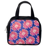 Pink Daisy Pattern Classic Handbags (One Side) Front