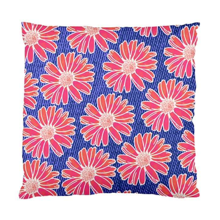 Pink Daisy Pattern Standard Cushion Case (One Side)