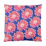 Pink Daisy Pattern Standard Cushion Case (Two Sides) Back