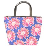 Pink Daisy Pattern Bucket Bags Front