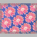 Pink Daisy Pattern Canvas 14  x 11  14  x 11  x 0.875  Stretched Canvas