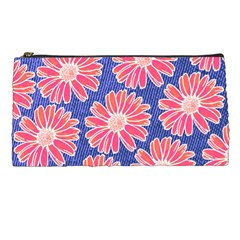 Pink Daisy Pattern Pencil Cases