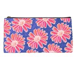 Pink Daisy Pattern Pencil Cases Front