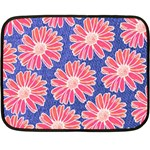 Pink Daisy Pattern Double Sided Fleece Blanket (Mini)  35 x27 Blanket Front