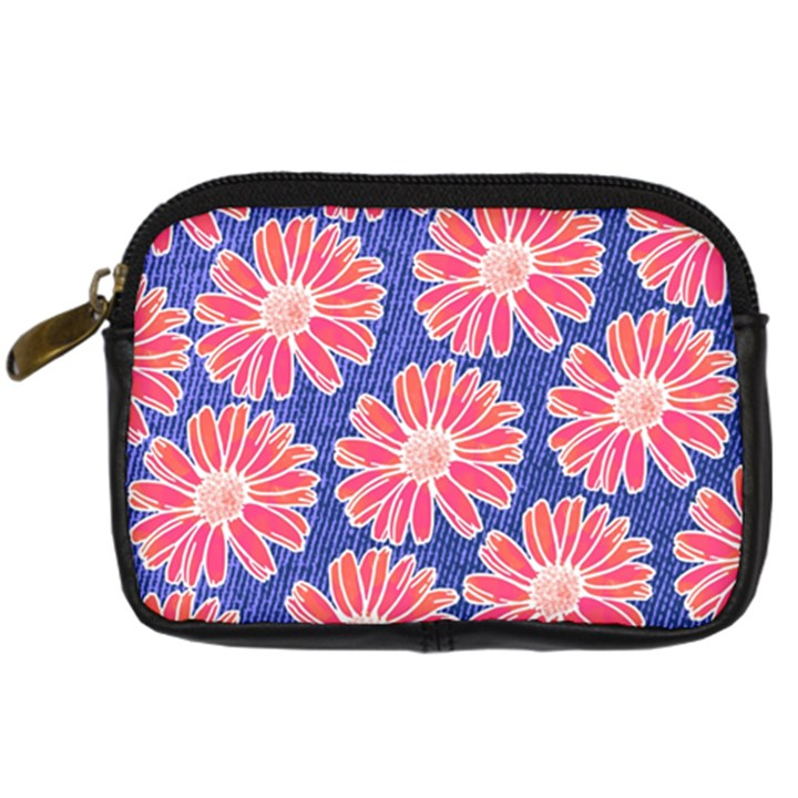 Pink Daisy Pattern Digital Camera Cases