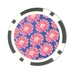 Pink Daisy Pattern Poker Chip Card Guards (10 pack)
