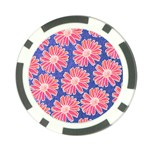 Pink Daisy Pattern Poker Chip Card Guards (10 pack)  Front