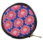 Pink Daisy Pattern Mini Makeup Bags Front