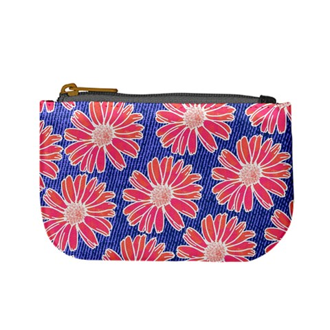 Pink Daisy Pattern Mini Coin Purses