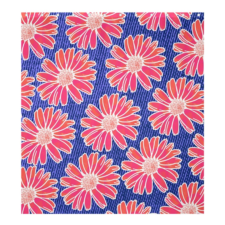 Pink Daisy Pattern Shower Curtain 66  x 72  (Large)