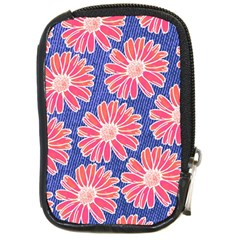 Pink Daisy Pattern Compact Camera Cases