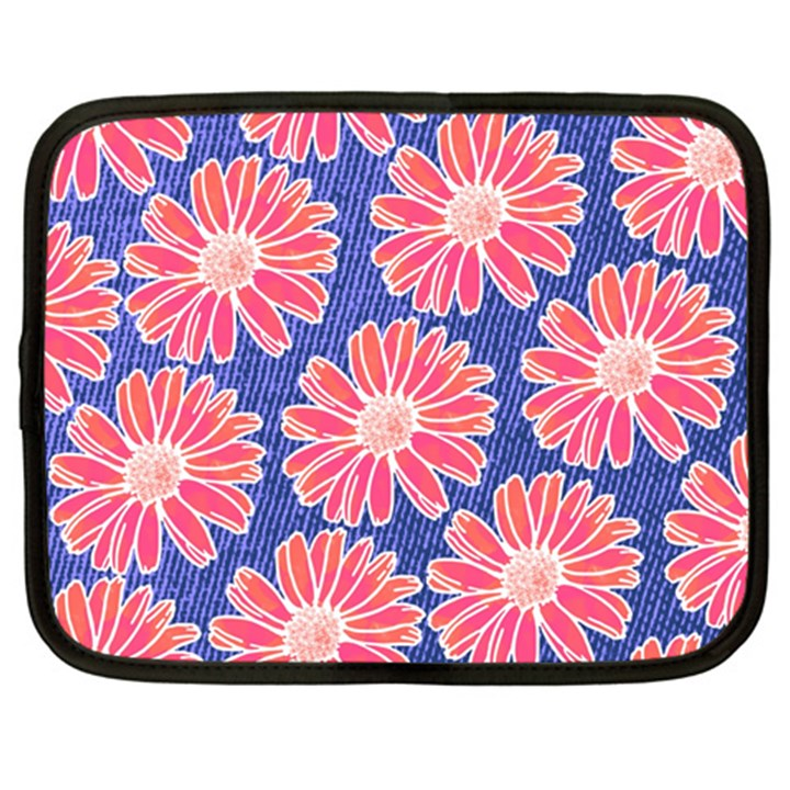 Pink Daisy Pattern Netbook Case (XL)