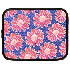 Pink Daisy Pattern Netbook Case (XXL)