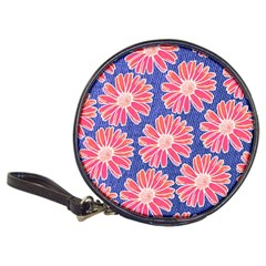Pink Daisy Pattern Classic 20-CD Wallets