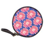Pink Daisy Pattern Classic 20-CD Wallets Front