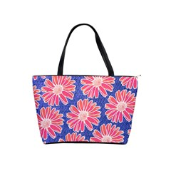 Pink Daisy Pattern Shoulder Handbags