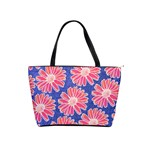 Pink Daisy Pattern Shoulder Handbags Front