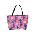 Pink Daisy Pattern Shoulder Handbags Back