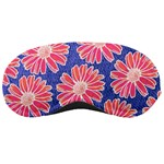 Pink Daisy Pattern Sleeping Masks Front
