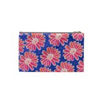 Pink Daisy Pattern Cosmetic Bag (Small)  Back