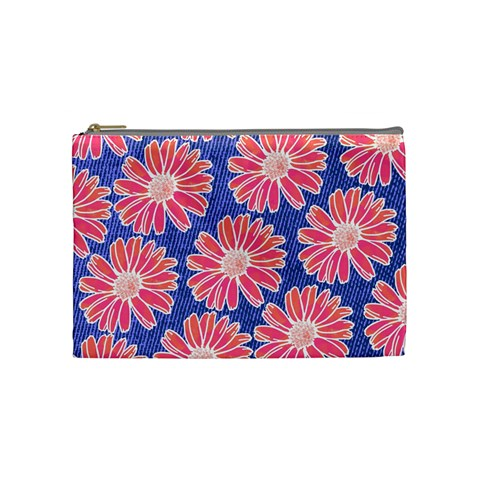 Pink Daisy Pattern Cosmetic Bag (Medium)