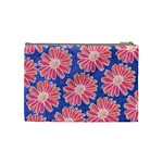 Pink Daisy Pattern Cosmetic Bag (Medium)  Back
