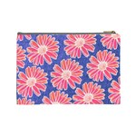 Pink Daisy Pattern Cosmetic Bag (Large)  Back