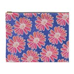 Pink Daisy Pattern Cosmetic Bag (XL) Front