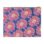 Pink Daisy Pattern Cosmetic Bag (XL) Back