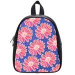 Pink Daisy Pattern School Bags (Small)  Front