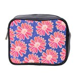 Pink Daisy Pattern Mini Toiletries Bag 2-Side Front