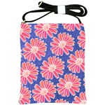 Pink Daisy Pattern Shoulder Sling Bags Front