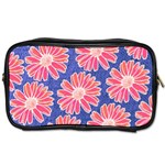 Pink Daisy Pattern Toiletries Bags 2-Side Front