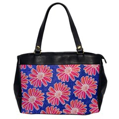 Pink Daisy Pattern Office Handbags