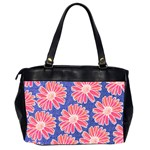 Pink Daisy Pattern Office Handbags (2 Sides)  Back