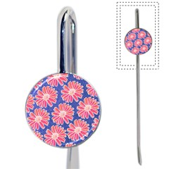 Pink Daisy Pattern Book Mark
