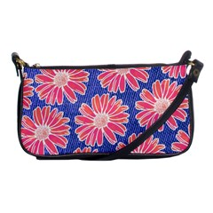 Pink Daisy Pattern Shoulder Clutch Bags
