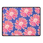 Pink Daisy Pattern Fleece Blanket (Small) 50 x40 Blanket Front