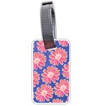 Pink Daisy Pattern Luggage Tags (Two Sides) Front