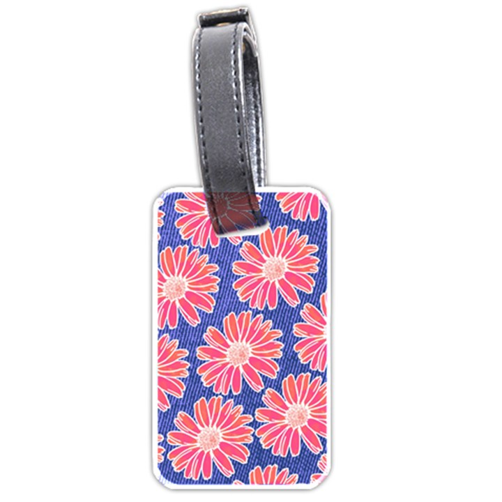 Pink Daisy Pattern Luggage Tags (Two Sides)