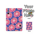 Pink Daisy Pattern Playing Cards 54 (Mini)  Front - SpadeK