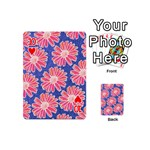Pink Daisy Pattern Playing Cards 54 (Mini)  Front - Heart10