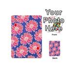 Pink Daisy Pattern Playing Cards 54 (Mini)  Front - Diamond5