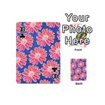 Pink Daisy Pattern Playing Cards 54 (Mini)  Front - Club10