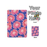 Pink Daisy Pattern Playing Cards 54 (Mini)  Front - Joker2